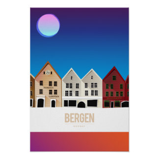 Bergen norge poster