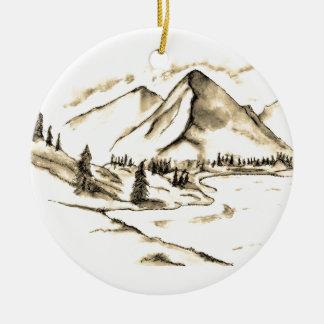 Bergplatsprydnad Julgransprydnad Keramik