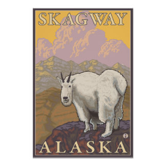 Bergsfår - Skagway, Alaska Poster