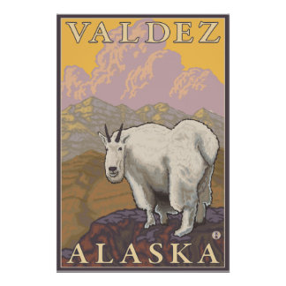 Bergsfår - Valdez, Alaska Poster
