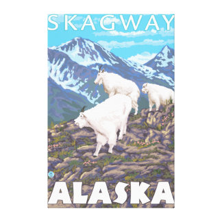 Bergsfårplats - Skagway, Alaska Canvastryck