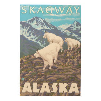 Bergsfårplats - Skagway, Alaska Trätavla