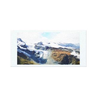 Bergtoppar i den schweiziska alpernan canvastryck