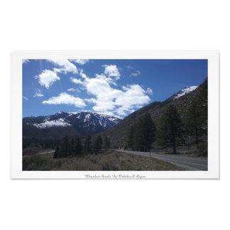 """""""Bergvägar,"""" Sierra Nevada natur Fototryck"""