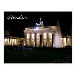 berlin brandenburg natt vykort