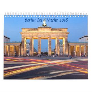 Berlin på nattfotoet kalender