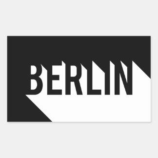 Berlin Rektangulärt Klistermärke