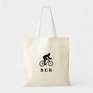 Berlin Tyskland som cyklar BER Budget Tygkasse