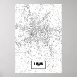 Berlin Tyskland (svarten på vit) Poster