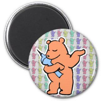 Berliner björnsamlingar magnet rund 5.7 cm
