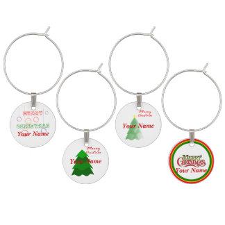 Berlock för julvinexponeringsglas vinglas barlock