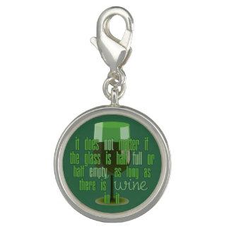 Berlock för vinexponeringsglas/berlockarmband