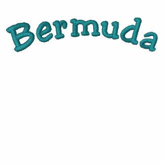Bermuda blåttgrönt bevattnar broderad jacka