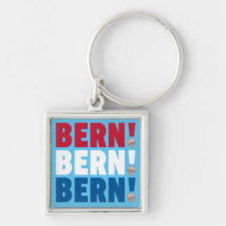 Bern Bern Bern Bernie slipmaskiner Fyrkantig Silverfärgad Nyckelring