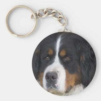 Berner Sennenhund Keychain Rund Nyckelring