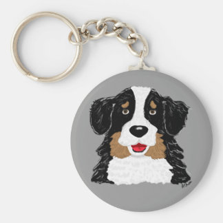 Bernese berghund Keychain Rund Nyckelring