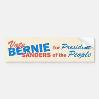 Bernie slipmaskinpresident av folket V5 Bildekal