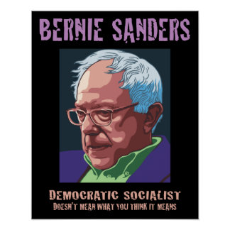 Bernie-Vad du tänker, betyder den Poster