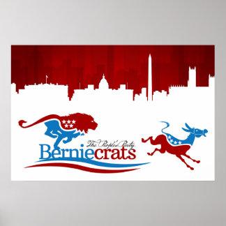 Berniecrats - DNC på springan! Poster