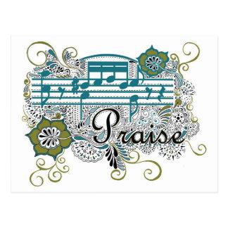 Beröm med musik noter vykort