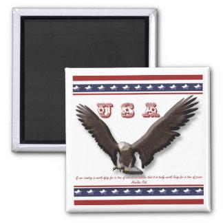 Berömd patriotisk ordUSA örn Kylskåps Magneter