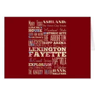 Berömd ställen av Lexington Fayette, Kentucky. Hälsningskort
