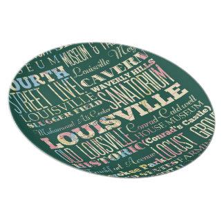 Berömd ställen av Louisville, Kentucky. Tallrik