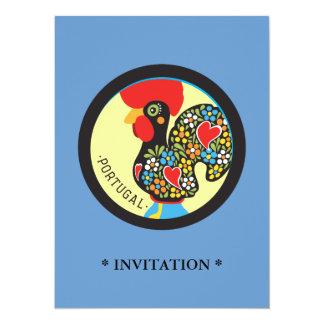 Berömd tupp av Barcelos Nr 06 14 X 19,5 Cm Inbjudningskort