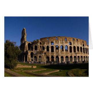 Berömda Colosseum i Rome italienLandmark 2 Hälsningskort