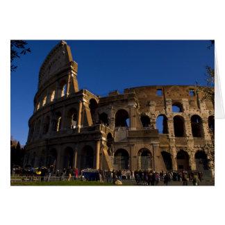 Berömda Colosseum i Rome italienLandmark Hälsningskort