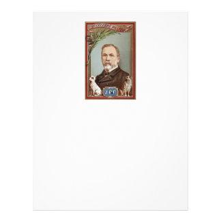 Berömda det historiska Louis Pasteur porträtt Brevhuvud