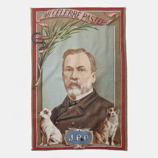 Berömda det historiska Louis Pasteur porträtt Kökshandduk