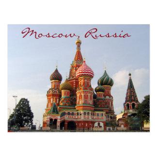 Berömda Moscow St.-basilika Cathedrale Vykort