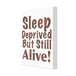 Berövat men stilla vid liv för sömn i brunt canvastryck