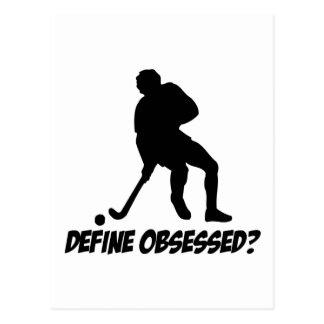 Besatt med hockey vykort