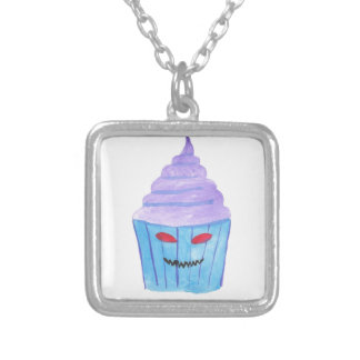 Besatt muffin silverpläterat halsband