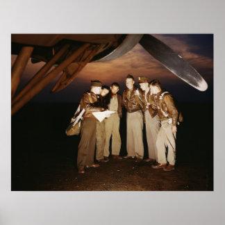 Besättning för bombplan YB-17, 1942 Poster