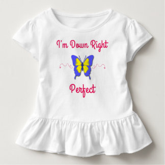 Besegra högerperfekten, den Down Syndrome fjärilen T-shirt