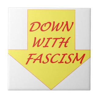 Besegra med Fascism Liten Kakelplatta