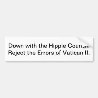 Besegra med Hippierådet! Bildekal