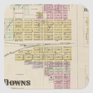 Besegrar Bloomington, busksnåret, Appleton, Kansas Fyrkantigt Klistermärke