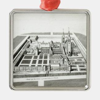 Beskåda av abbeyen av Sanktt-Germain-des-Pres Julgransprydnad Metall
