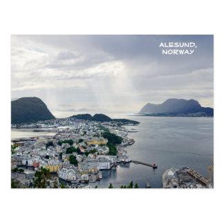 Beskåda av Alesund, det norska havet, norge Vykort