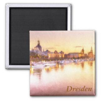 Beskåda av Altstadten över Elben i Dresden Magnet