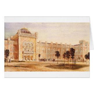 Beskåda av arsenalmuseum av Rudolf von Alt Hälsningskort
