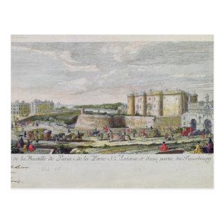 Beskåda av bastillen och Porten Sanktt-Antoine Vykort
