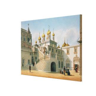 Beskåda av Boyarslotten i Moscowen Kremlin Canvastryck