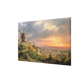 Beskåda av butten Montmartre, c.1830 Canvastryck
