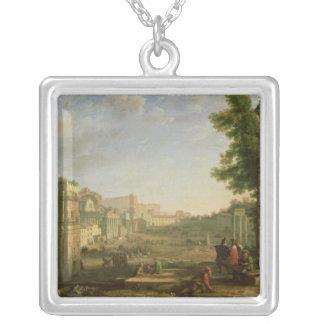 Beskåda av Campoen Vaccino, Rome, 1636 Silverpläterat Halsband
