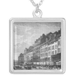 Beskåda av Canebieren på Marseilles Silverpläterat Halsband